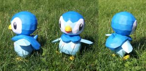 Piplup Papercraft by Kayuna-Chan