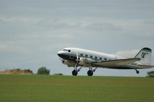 The DC3 touches down by TPJerematic