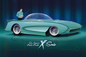 X-Sonic Custom 1957 Corvette by GaryCampesi