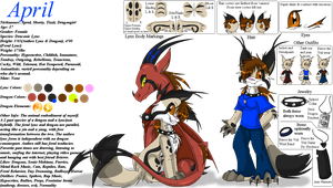 April the Draconic Lynx Ref Sheet- Age 17 +update by SighriaDragoness12