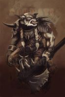 Tribal Warrior sketch by Sarmati