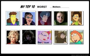 My Top 10 Worst Mothers by SithVampireMaster27