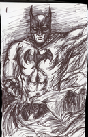 Pen Doodle: The Dark Knight by The-Nightmare-Doctor