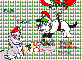 Puffy and Clover Christmas 2014 by PuffyDearlySmith