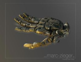 cybernetic hand by MarcZieger