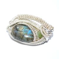 Wire-wrapped Labradorite Brooch/Hat Pin by AscensionConceptions