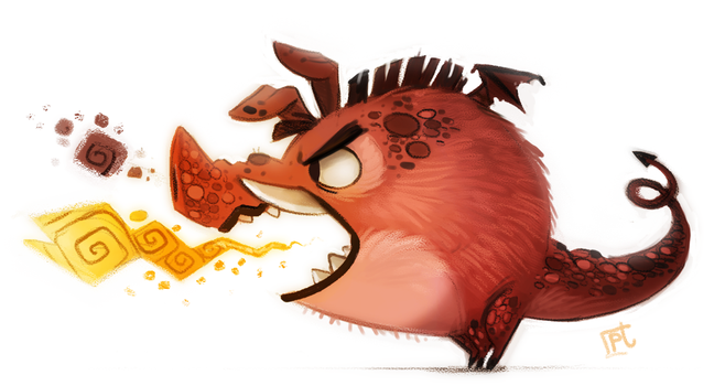 Daily Painting #717 - Pig Dragon by Cryptid-Creations