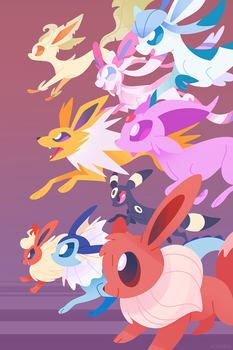 Eeveelutions Unite by Versiris