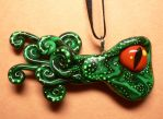 Nocturnal Octopus Necklace by BlackMagdalena