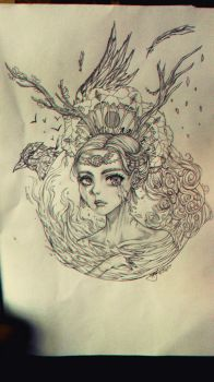 Mother Earth Sketch by Zainora