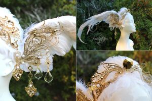 Swan Headdress by Lillyxandra