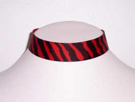 Zebra - Black and Red by Lincey