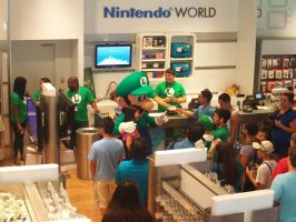 Luigi 30th at Nintendo World 18 by MarioSimpson1