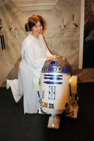 Leia and R2-D2 by Tifa-Lock
