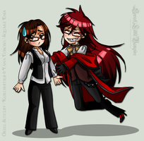 New DevID - Grell Glomp by SweetLittleVampire