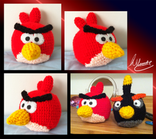 Red Angry Bird Crochet by SonARTic