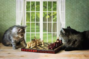 Chess players by Daykiney