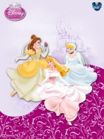 DisneyPrincess - B,A,C W ByGF by GFantasy92
