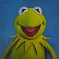 Kermit the Frog by iconicafineart