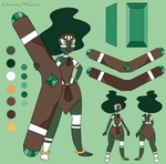 (ADOPT - CLOSE) Emerald Gem - Steven Universe by CharmmyColour