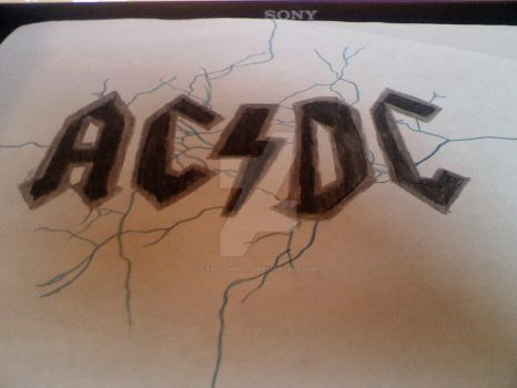 ACDC Drawing by FalconPilot1
