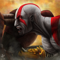 Kratos, God of War by kinwii