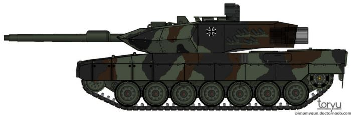 Leopard 2A6_ by T0RYU