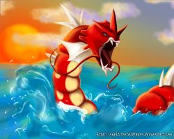 Shiny Gyarados by NightCrystalDragon