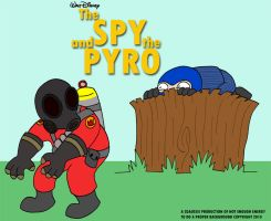 The Spy and the Pyro by cgaussie