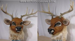 Stag Fursuit Head by Beetlecat