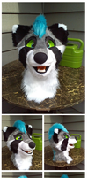 Spunky Fursuit head! by SpunkyRacoon