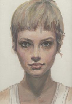 Girl with short hair by lusciousdarla