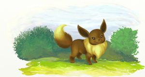 Eevee, Pokemon by ArtistinWonderland