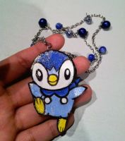 Piplup Necklace by JapaneseMusic-Freak