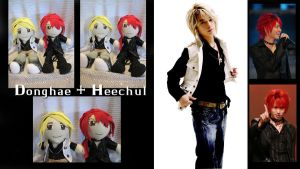 Donghae and Heechul Plushies by SubterraneanTV