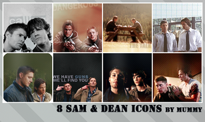 8 Sam and Dean icons :1: by mummy16
