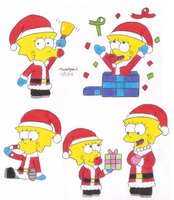 Santa Maggie Artworks by MarioSimpson1