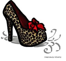 Animal Print Stiletto in oil paint by Maellanie