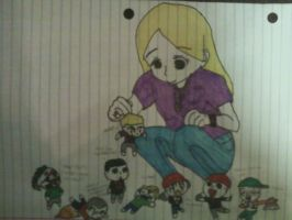 Me and Chibi Fam by DeadloveCalling
