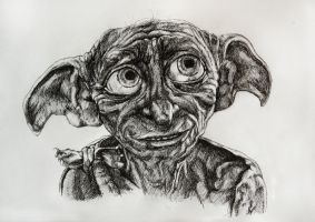 Dobby, a free elf by WhiteRaven89