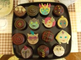 League Of Legends cupcakes by Sheiwa
