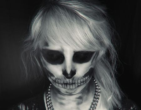Skeleton Makeup by Liancary-art