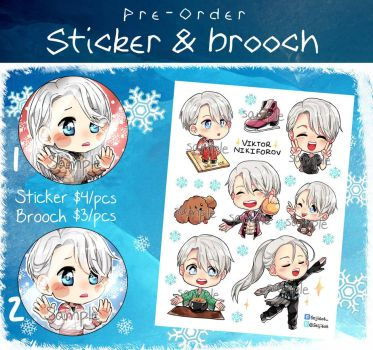(Pre-order) Viktor sticker and brooch (paypal) by seiji606