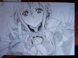 Inori Yuzuriha, Guilty Crown. by Barttik