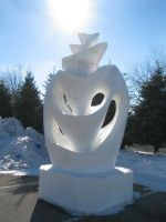 Funnels Swirled Carved Out of Snow by Dygyt-Alice
