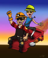 Miner Engie and the Sexy Scoot by Nicktoonacle