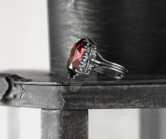 Gothic Ring in Burgundy by Aranwen