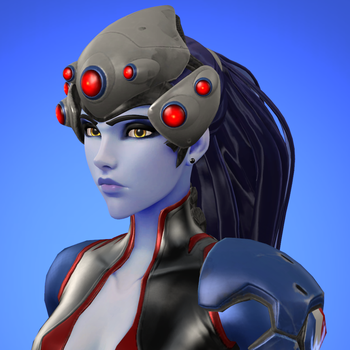 [SFM] Widowmaker icon (Tricolore Outfit) by red4567-2
