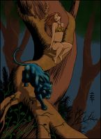 Jungle Girl with Panther by Wandermaske