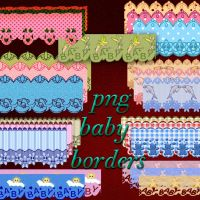 Backgrounds png baby borders by roula33